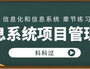 信息系统项目管理师第1章 信息化和信息系统 章节练习(1)