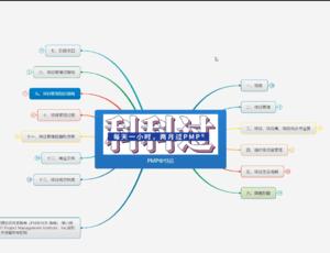 PMP培训第一节课思维导图