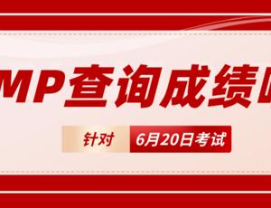 【通知】6月20日PMP®成绩可以查询啦